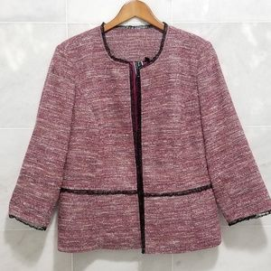 Nicole Miller For Mary Kay Pink Tweed Blazer